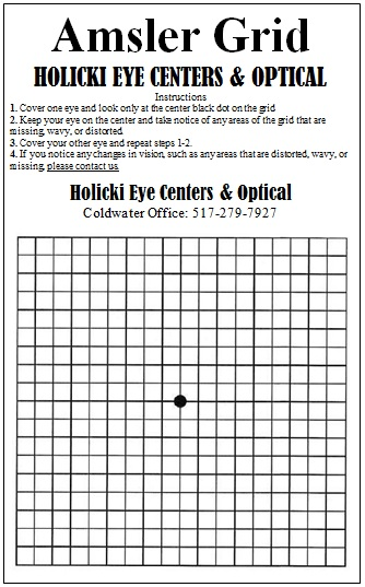 image relating to Printable Amsler Grid identify Holicki Eye Facilities Optical - Eye Treatment Consultant in just